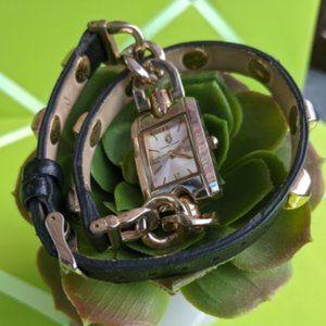 Adrienne Vittadini Wrap Watch w/Pyramid Studs